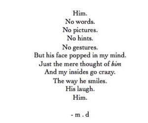 him, words, and love image