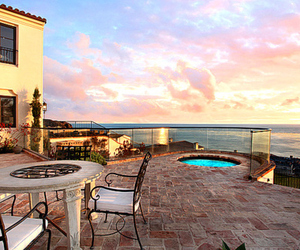 house, ocean, and luxury image