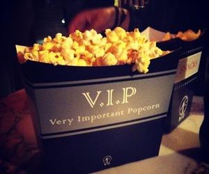popcorn, VIP, and food image