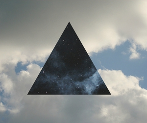 sky, triangle, and hipster image