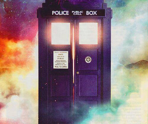 tardis, doctor who, and doctor image