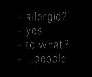 true, people, and allergic image