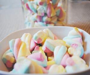 food, sweet, and marshmallow image