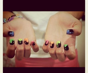 colourful, nails, and cool image