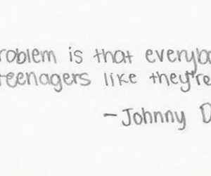 quotes, teenager, and johnny depp image
