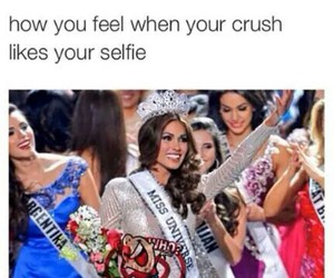 crush, funny, and selfie image