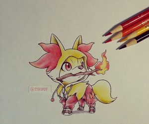 pokemon and fennekin image