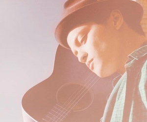 colors, guitar, and hat image