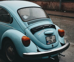 car, indie, and blue image