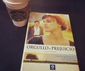 coffe, jane austen, and pride and prejudice image