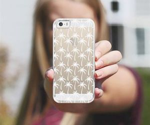 palm trees, iphone cases, and white image