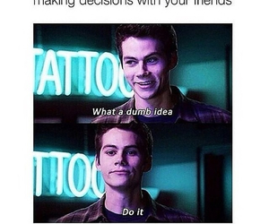 funny, friends, and teen wolf image