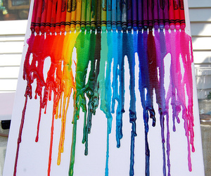 art, colors, and crayon image