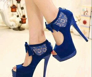 asian, bow, and high heels image