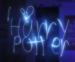 harry potter, light, and blue image