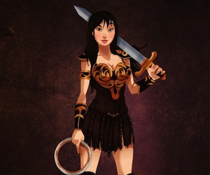 mulan, disney, and xena image