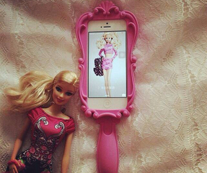 barbie, pink, and rose image