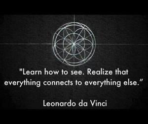Leonardo da Vinci, connection, and quotes image