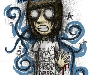 bring me the horizon, drawing, and oliver sykes image