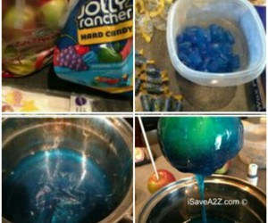 apple, candy apple, and jolly ranchers image