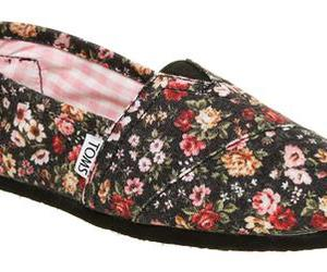 floral, toms, and cute image