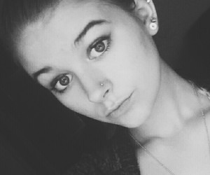 black and white, selfie, and girl image