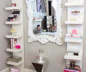 mirror, room, and decor image