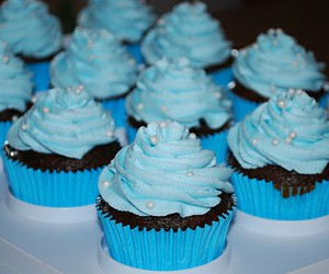 cupcake, blue, and muffin image