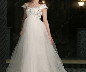 bridal dress, wedding dress 2014, and off the shoulder gown image