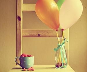 balloons, chair, and mug image