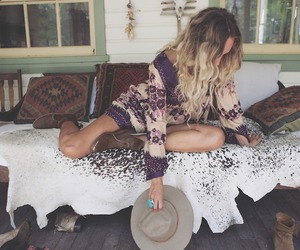 boho, indie, and girl image