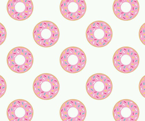 donut, girl, and pink image