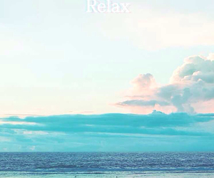 blue, relax, and sea image