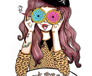 donuts, valfre, and drawing image