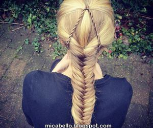 girl, hairstyle, and moda image