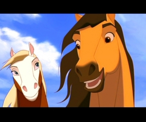 disney, horse, and spirit image