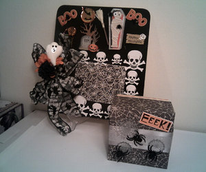 shadowbox, wall hanging, and halloween decoration image