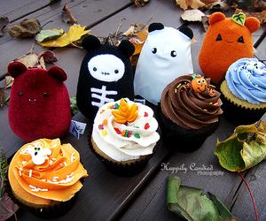 cupcake, Halloween, and kawaii image