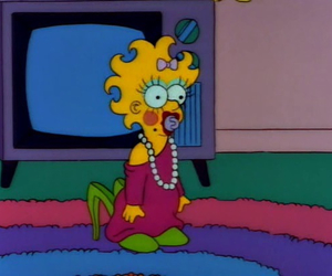 Maggie, the simpsons, and simpsons image