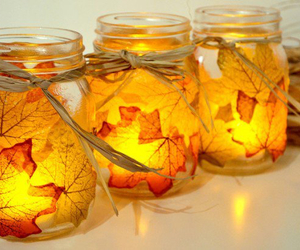 fall, autumn, and candle image