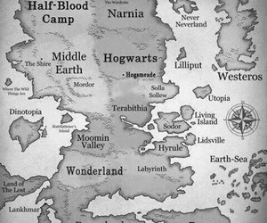 narnia, map, and wonderland image