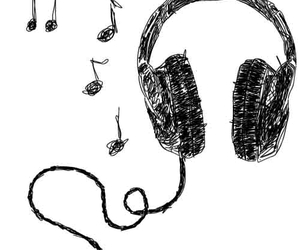 music, headphones, and drawing image