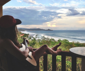 guitar, summer, and beach image