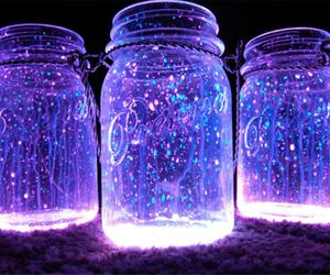 purple, light, and jar image