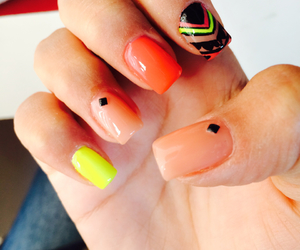 design, nails, and neon image