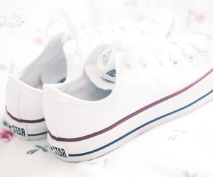 converse, white, and all image