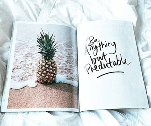 beach, pineapple, and words image
