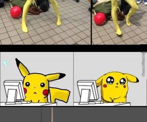 funny and pikachu image