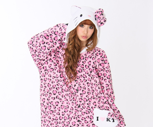 cat, pink leopard, and adult onesies image