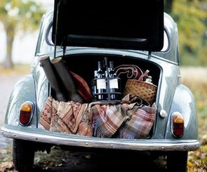 car, picnic, and vintage image